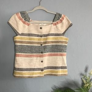 Texture & Thread Madewell Striped Crop Top Blouse